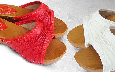 Dámské kožené dřeváky