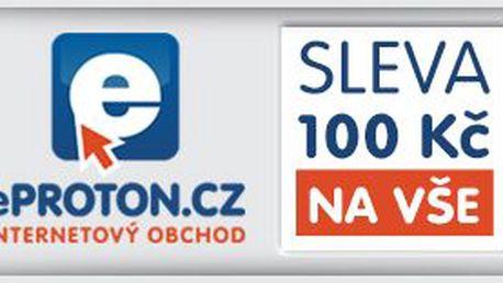 Sleva 100 Kč při nákupu jakéhokoliv produktu nad 2 500 Kč na ePROTON.cz