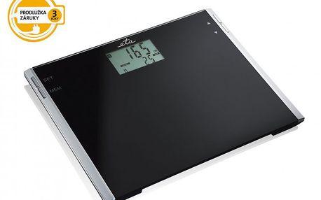 Osobní váha ETA 777590000 s velkým LCD displejem a pamětí pro 12 vážení.
