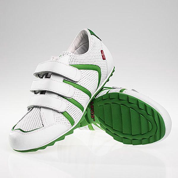 Bílo-zelené pánské tenisky