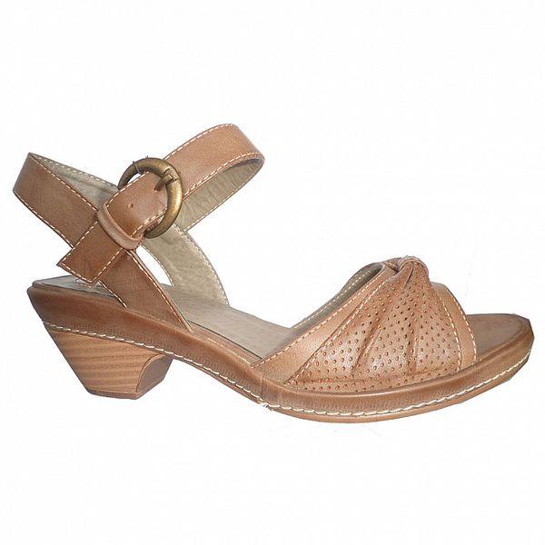 Dámské karamelově hnědé sandále Vanelli