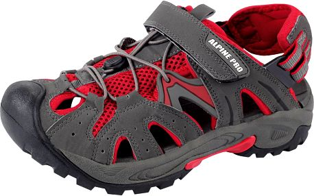 Moderní unisexové sandály Alpine Pro Caracas Šedá/červená