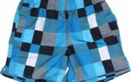 Pánské modro-zelené kostkované šortky Authority