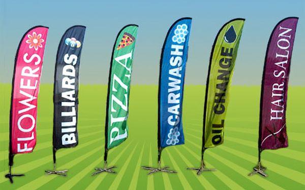 Nepřehlédnutelná reklama Vaší firmy - plnobarevně potištěná vlajka SURF Medium Flag