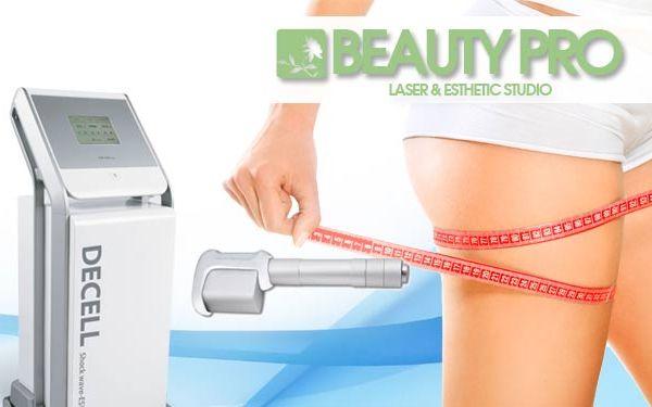 Terapie rázovou vlnou DECELL proti celulitidě v laser studiích Beauty Pro