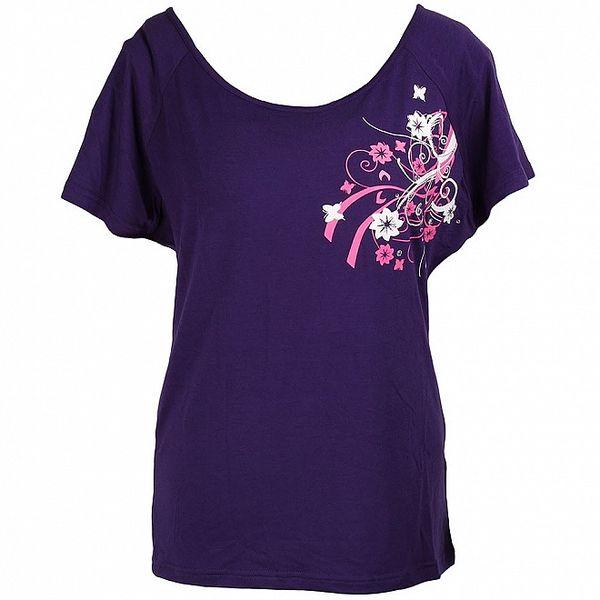 Dámské fialové tričko Authority s potiskem