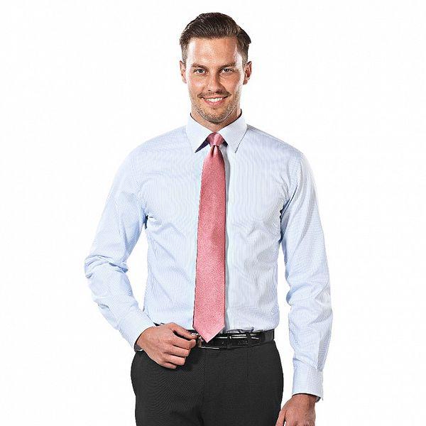 Pánská modro-bílá pruhovaná regular fit košile Vincenzo Boretti