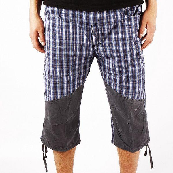 Pánské modré kostkované trekové kalhoty Authority