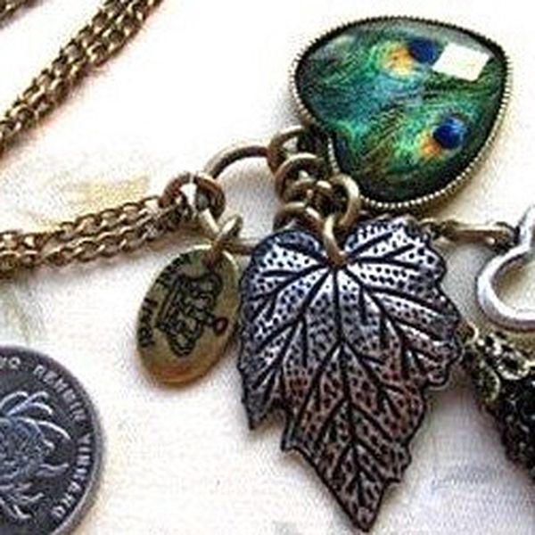 Štýlový retro náhrdelník