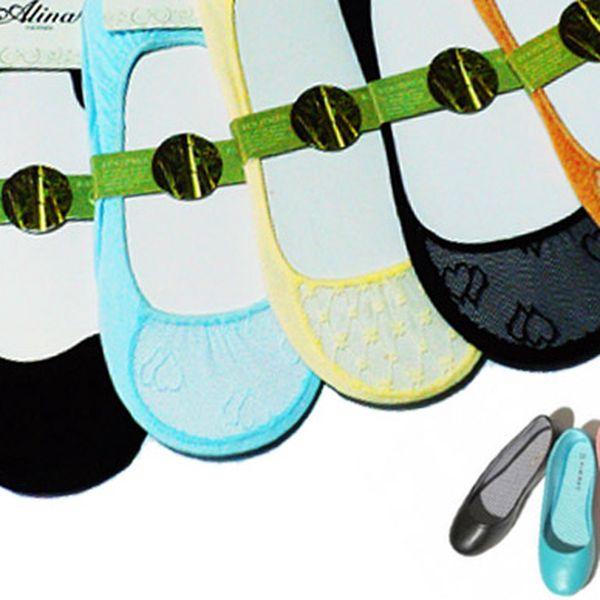 6 párů ponožek do balerín – 2 varianty