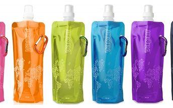 EKOlogická, Skladná, opakovně použitelná, chytrá a moderní Vapur lahev!! Pořiďte si 2 kusy na letní cestování! Za pouhých 69 Kč! Šetříte tím životní prostředí!