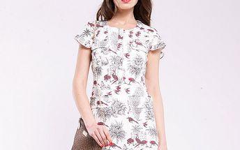 Dámske biele šaty Almatrichi s volávkami