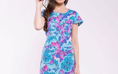 Dámske tyrkysovo-rúžové šaty s vreckami Almatrichi