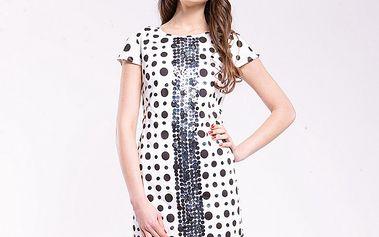 Dámske čierno-biele bodkované šaty Almatrichi