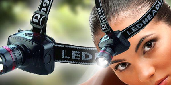 Vysoce svítivá LED ČELOVKA - nepřetržité svícení 10 hodin a dosvit až 150 metrů!