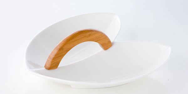 Porcelánová miska s držadlem