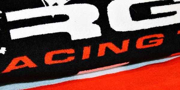 Bavlněná černá osuška Racing