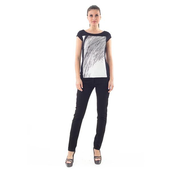 Dámské triko Conquista černo-bílé s potiskem
