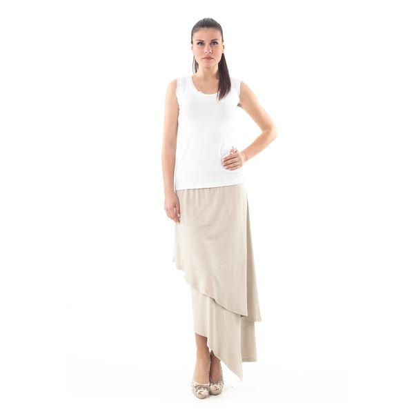 Dámská sukně Conquista krémově bílá asymetrická