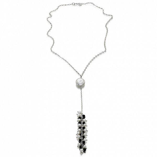 Dámsky perlový náhrdelník Orchira s onyxovými guličkami