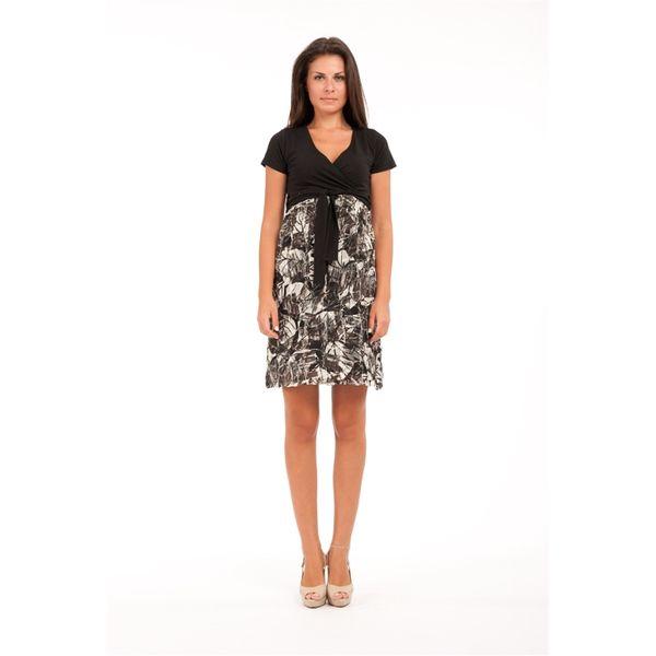 Dámské šaty Conquista černo-šedé žíhané
