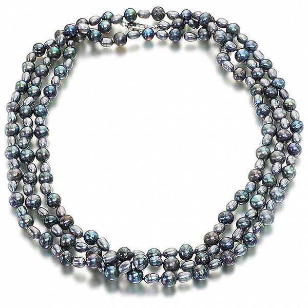 Dámsky čierny perlový náhrdelník Orchira