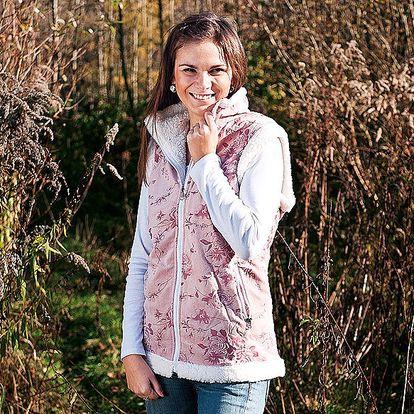 Luxusní dámská vesta sberánkem z mikrovlákna v mikroplyšové úpravě