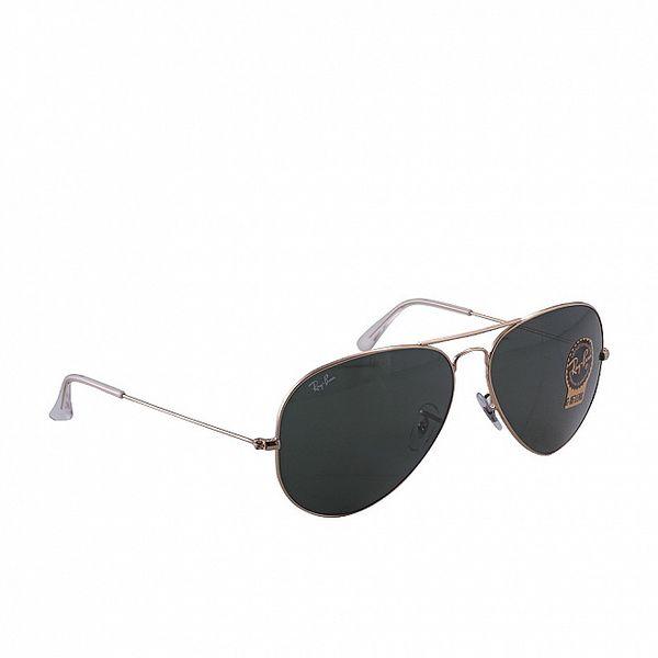 Šedo-zlaté aviátorské sluneční brýle Ray-Ban