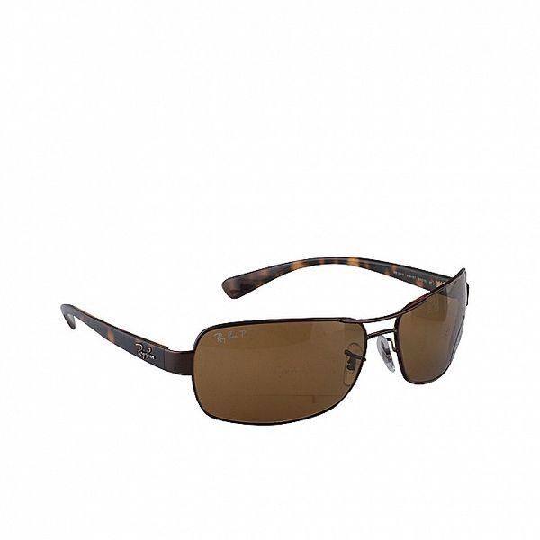 Okrové slnečné okuliare Ray-Ban s žíháním
