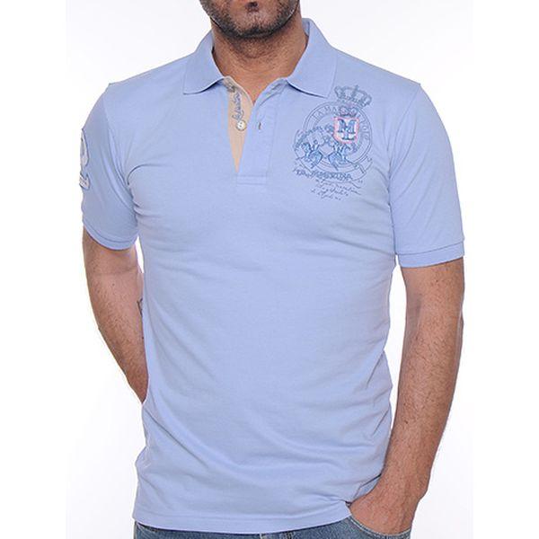 Světle modré polo triko Two
