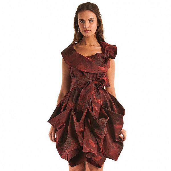 Dámské tmavě červené šaty Jolaby
