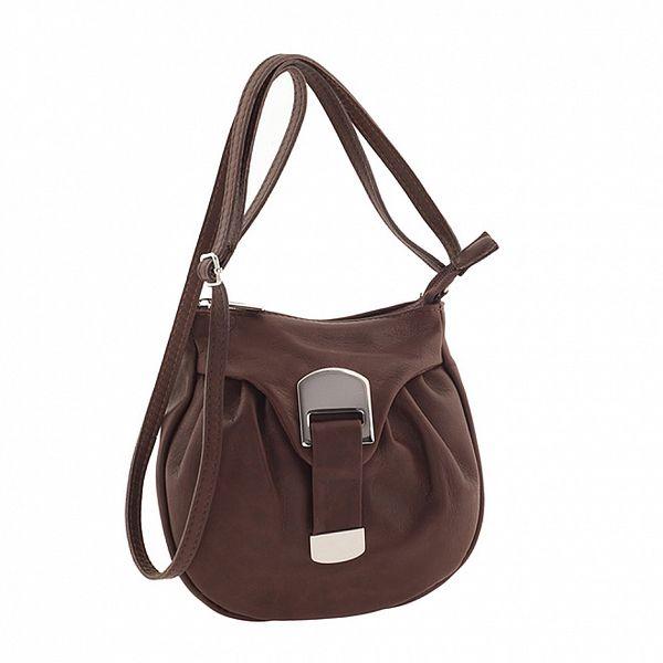 Dámska hnedá kožená mini kabelka Ore 10