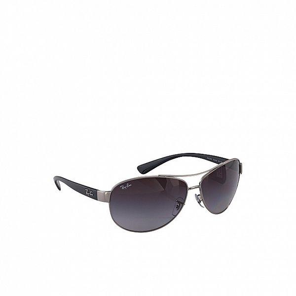 Šedo-čierne slnečné okuliare Ray-Ban