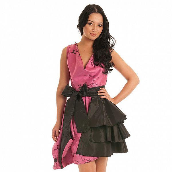 Dámské růžovo-šedé koktejlové šaty Jolaby