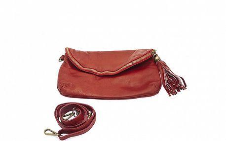 Dámská červená mini kabelka se střapcem Free for Humanity