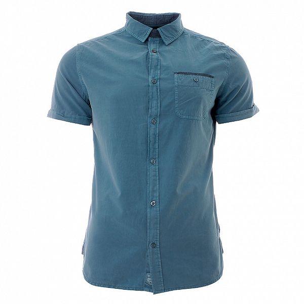 Pánská azurově modrá košile Lee Cooper