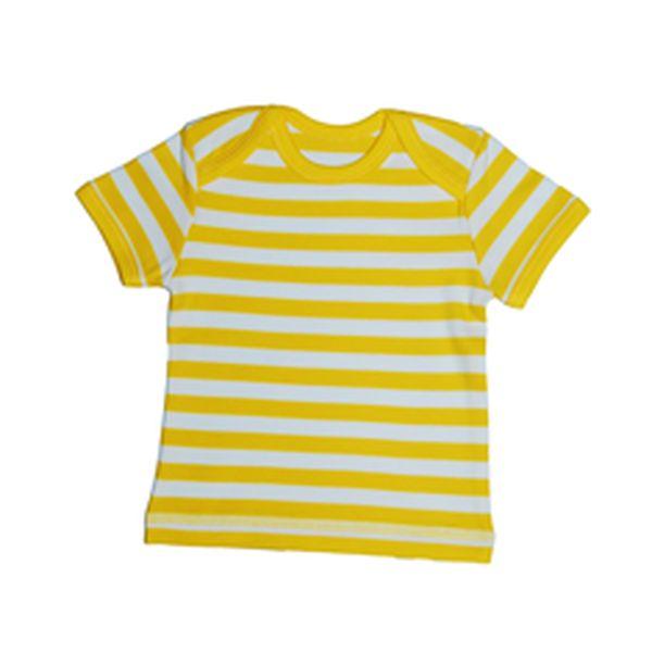 Proužkované žluté triko