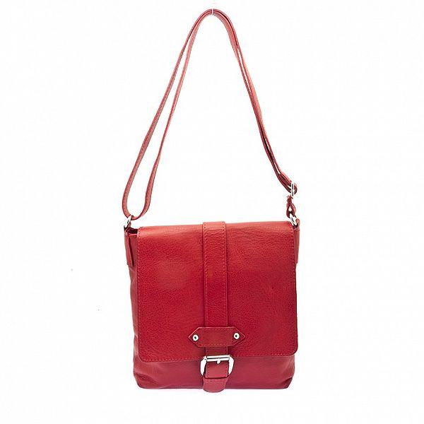 Dámská červená kabelka s přezkou Free for Humanity