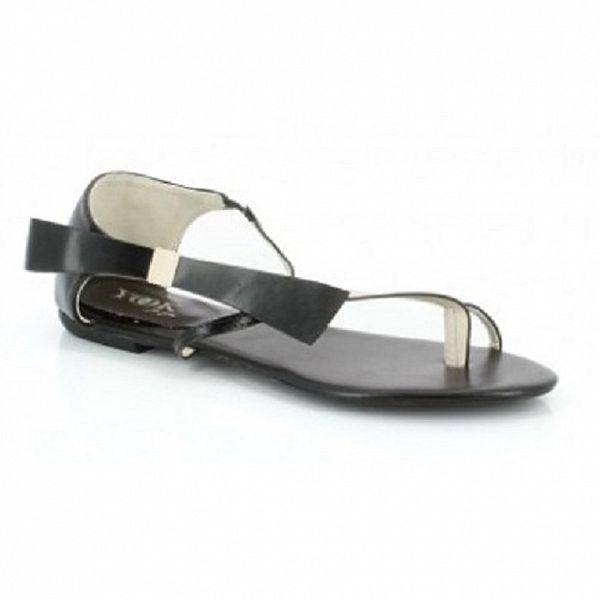 Dámske čierne sandálky s originálnym dizajnom Yook for you