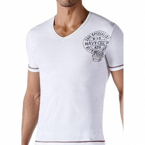 Pánské bílé tričko Impetus s potiskem