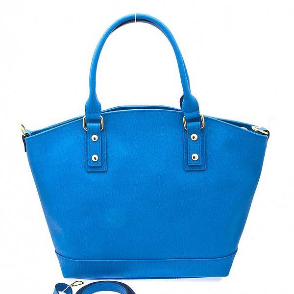 Dámska modrá kožená kabelka Free for Humanity