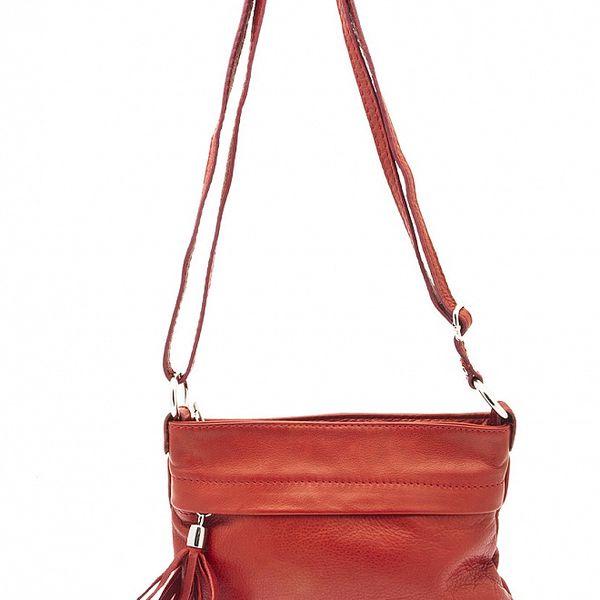 Dámska červená kabelka so strapcom Free for Humanity