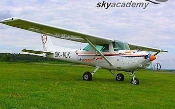 20minutový let s řízením letadla na zkoušku!