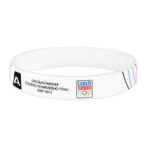 Silikonový náramek Alpine Pro bílý