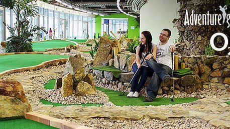 Hodina adventure golfu v O2 Aréně s občerstvením