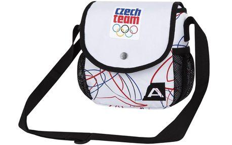Taška přes rameno Alpine Pro bílá s potiskem