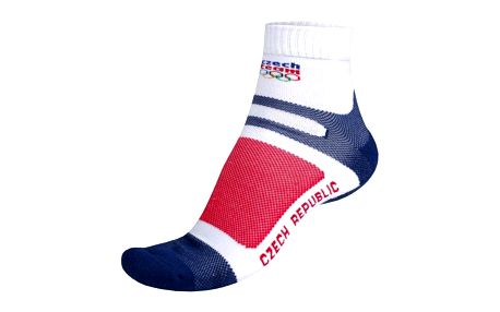 Unisex ponožky Alpine Pro bílo-červeno-modré