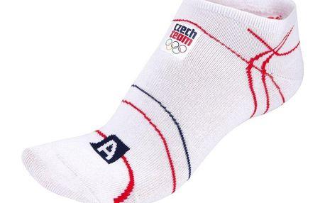 Unisex kotníkové ponožky Alpine Pro bílo-červeno-modré