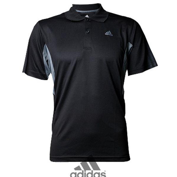 Pánské černé polo triko Adidas Clima Cool