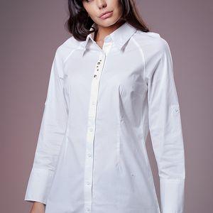 Dámská bílá košile Ada Gatti s kovovými cvoky
